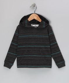 Take a look at this Charcoal & Blue Stripe Thermal Hoodie - Toddler by Micros on #zulily today!