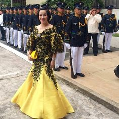 mother of the bride filipiniana - cut and peg Modern Filipiniana Gown, Filipino Fashion, Reception Gown, Formal Wear Women, Plus Size Gowns, Formal Gowns, Beautiful Gowns, Traditional Dresses, Ball Gowns