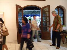 ...After the opening, pak Bernie welcomed all friends and guests into the exhibition hall..