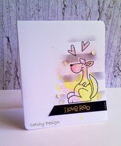 I Love Roo #card by Deepti Stephens #PaperSmooches
