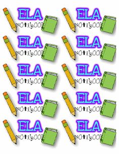 Step into Grade with Mrs. Lemons: Label Freebies ( Subject labels for every subject! Classroom Labels, Classroom Organization, Classroom Ideas, Classroom Management, Notebook Labels, Free Notebook, Verb Chart, I School, School Ideas