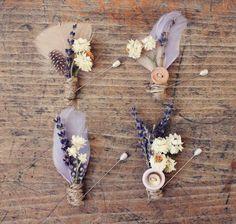 wildflower boutonnieres