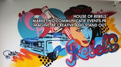 Creative art wall  #house of rebels #bustart #marketing #communication #events #pr