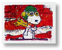 LOW FAT MEAL OVER SANTA MONICA | Tom Everhart #tomeverhart #snoopy #charliebrown #peanuts