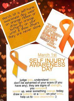 Self Injury Awareness Day!