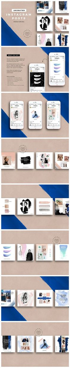 ANIMATED Painted Instagram Posts by Paperwhite Studio on @creativemarket