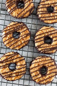 Gluten free vegan samoa cookies. The gluten-free copycat recipe for these amazing Girl Scout Cookies.