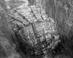Construção da represa Hoover em 1934.