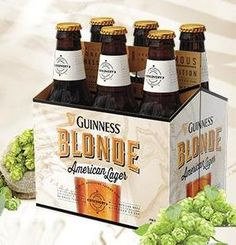 Guiness Blonde - Good lager--not so bitter. I prefer lager or light ale. Guiness Beer, Cocktail Recipes, Cocktails, Beer Company, Hooch, Light Beer, Home Brewing, Brewery, Cocktail