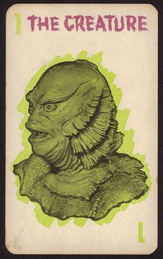 Monster Old Maid card by Milton Bradley