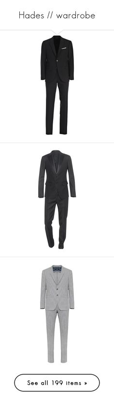 """""""Hades // wardrobe"""" by morningstar1399 ❤ liked on Polyvore featuring men's fashion, men's clothing, men's suits, black, menclothingsuits, neil barrett, men, mens clothing, slim fit mens clothing and mens slim fit blazers"""