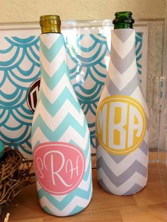 Personalized Wine Sleeve, Monogrammed Wine Sleeve on Etsy, $25.00 Personalized Gifts, Monogrammed Gifts, Wine, Wine Gifts, Preppy, Preppy Gift, Wedding gift, Bridesmaid gift www.SasssySouthernGals.etsy.com
