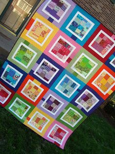 SewCraftyJess: Scrappy Rainbow Quilt: Finished