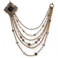 Darice Styled By Tori Spelling Multilayer Necklace Bottom - Bronze Medallion