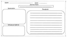 Social Studies Themed Frayer Model and Journal writing Worksheets