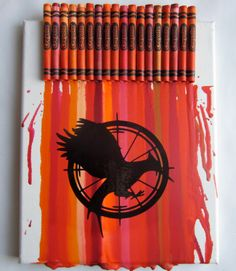 The Hunger Games Catching Fire  Melted Crayon Art by MeltMagic, $30.00