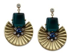 Fan Earrings by Gerard Yosca from Kendall Farr on OpenSky