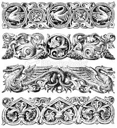 1000 images about gothic ornament on pinterest vector for Gothic design elements