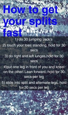 Just do these tips and you can get your splits in less than 10 minutes! It real… – Dance Archive Dance Flexibility Stretches, Gymnastics Stretches, Splits Stretches, Stretches For Flexibility, Flexibility Workout, Stretching, Cheer Stretches, Ballet Stretches, Gymnastics Skills