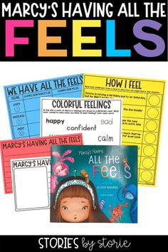 Being happy feels great, doesn't it? But it's unrealistic to expect to be happy all the time. Allison Edwards explores how it is normal to feel sad, frustrated, angry, embarrassed, and more in the book, Marcy's Having All the Feels. Here are some activities you can pair with this story.