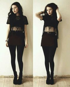 Cute goth style outfit ideas - You are in the right place about Gothic Style makeup Here we offer you the most beautiful pic Fashion Mode, Dark Fashion, Grunge Fashion, Gothic Fashion, Fashion Trends, Trendy Fashion, Style Fashion, Mode Grunge, Hipster Grunge