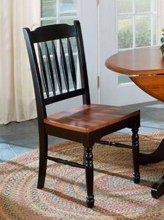 A-America British Isles Slatback Dining Side Chair in Antique Oak & Black - BRI-OB-2-67-K by A-America. $127.60. The A-America BRI- British Isles Collection is designed to appeal to traditional and country consumers The wide selection of finish colors chair styles table sizes and shapes make the A-America British Isles group a collection of choices The chairs are extremely comfortable with contoured backs and deep saddle seats ensuring you are happy with any of y...