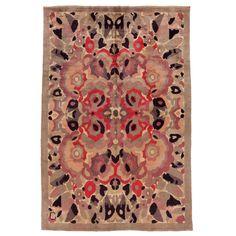 C1930 A French Art Deco rug designed by René Crevel.