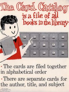 #vintagelibrary Mary Joan Egan and Cynthia Amrice, Using Your Library: 32 Posters for Classroom and Library. Danville, New York: F. A. Owen Publishing Company, 1965. From University of Wisconsin Special Collections