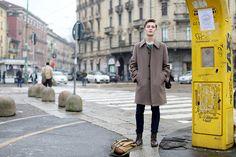 Les street looks des mannequins de la Fashion Week homme automne-hiver 2015-2016 17
