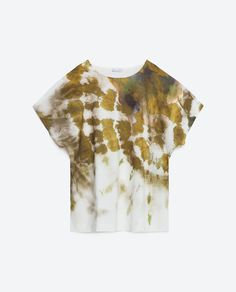 All The Spring Pieces We're Buying From Zara #refinery29  http://www.refinery29.com/zara-new-arrivals-spring-clothing#slide-28  That's so '70s.Zara Tie-dye T-shirt, $25.90, available at Zara....