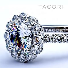 Center stones BLOOM with spotlight diamonds #engagement #ring