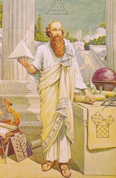 """Pythagoras The Secret Teachings of All Ages / """"Pythagorean Mathematics"""" by Manly P. Hall"""