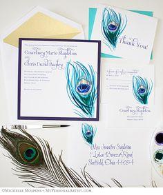 peacock #Invitations