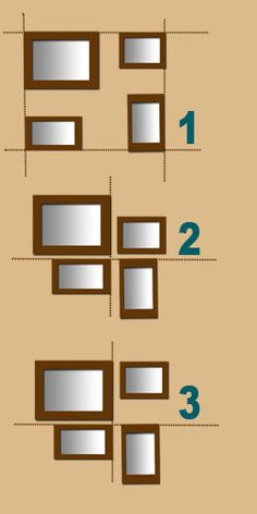 How to layout frames:  ... avoid placing a portrait frame (height frame ) over a landscape frame (wide frame). Your arrangement would be unbalanced.
