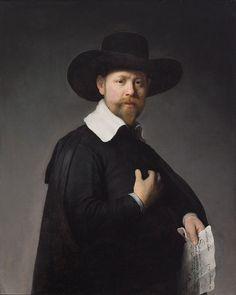 Rembrandt-ritratto di Maerten Looten,1632,olio su tavola,92.71 x 76.2 cm,Los Angeles County Museum of Art, Los Angeles