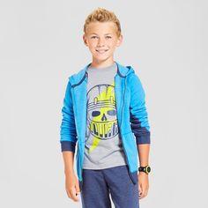 Boys' Cozy Fleece Hooded Sweatshirt Cat & Jack - Blue Xxl, Boy's, Energetic Blue