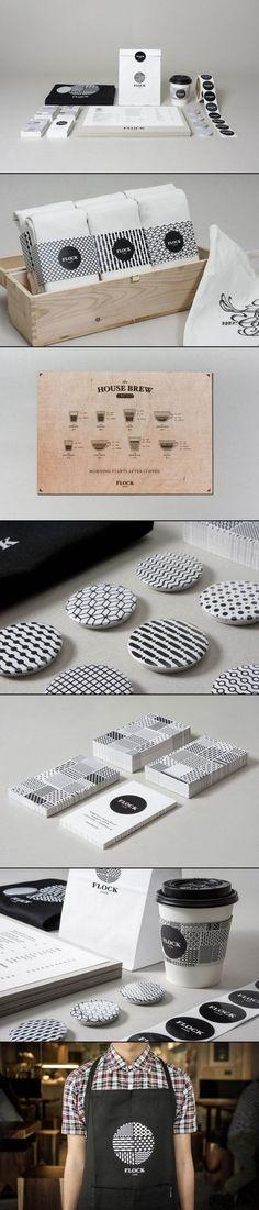 Kilo Studio for Flock Café #identity #packaging #branding PD