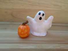 Miniature Halloween figurines Ghost and by ADragonflysFancy