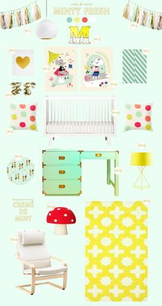 Lay Baby Lay: Minty Fresh nursery on BHG today