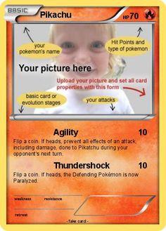 Free pokemon card template