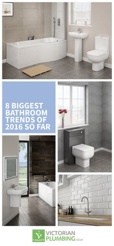 From metro tiles to shades of grey, this article explores all the standout bathroom trends that have proved to be popular in 2016. https://www.victorianplumbing.co.uk/bathroom-ideas-and-inspiration/8-biggest-bathroom-trends-of-2016-so-far?utm_source=Pinterest&utm_medium=Bathroom%20Ideas%20From%20Victorian%20Plumbing&utm_campaign=8%20Biggest%20Bathroom%20Trends%20Of%202016%20So%20Far