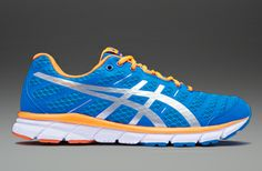 Asics Gel-Zaraca 2 - Blue/Silver/Orange - Mens Running Shoes