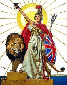 WOODS, Rex, Canadian artist, (1903-1987) : -- 'Britannia'