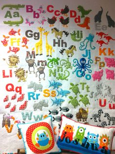 Animal Alphabet quilt - Don't Look Now