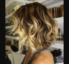 Color melting. Love this cause I have to have the blonde blonde around my face.