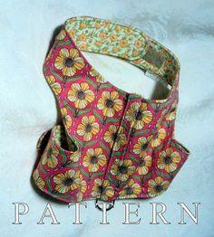 Dog harness pattern sewing leash instructions par WarmWeenies