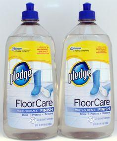 2 Pledge Floor Care Multi Surface Finish Shine Protect Restore 27 Oz. Each ❤