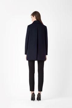 Box pleat coat