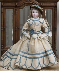 """18 1/2"""" (47 cm) Fabulous Rare Fully Original Early Bru Fashion with from respectfulbear on Ruby Lane"""
