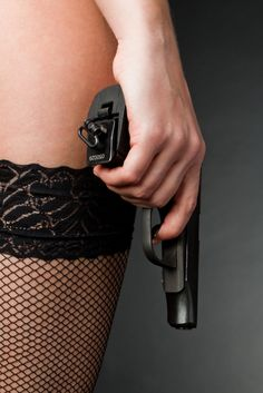 Girls like guns too just because I wear fishnets and heels don't think I won't Shoot your Ass . and then come home and bake a chocolate fucking cake like no other ! Remember that